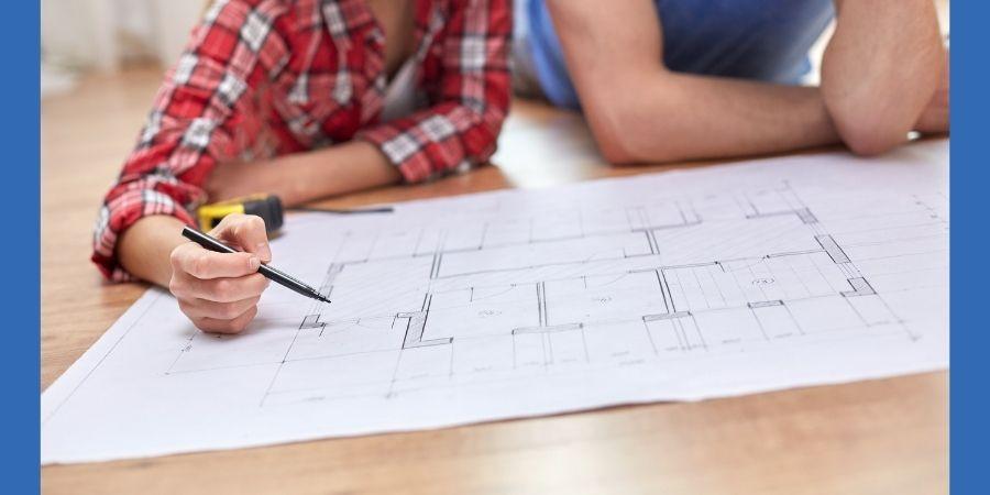 Grundriss für Eigenheim